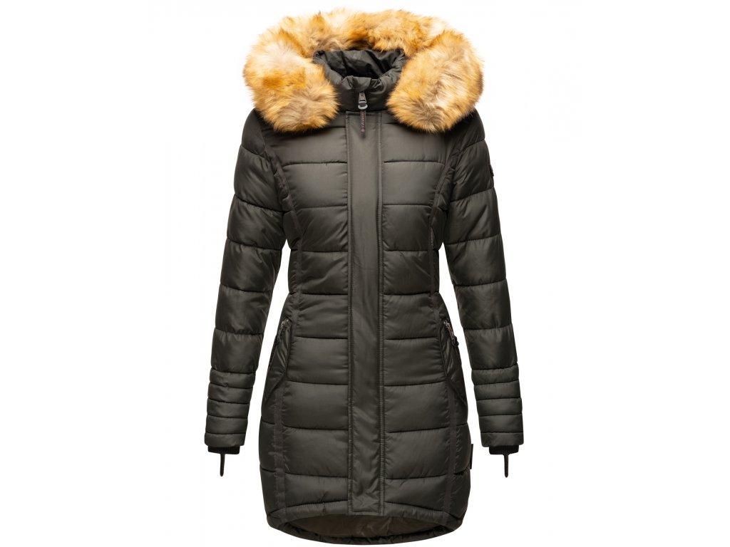 Dámska zimná bunda dlhá Papaya Navaho - ANTRACITE
