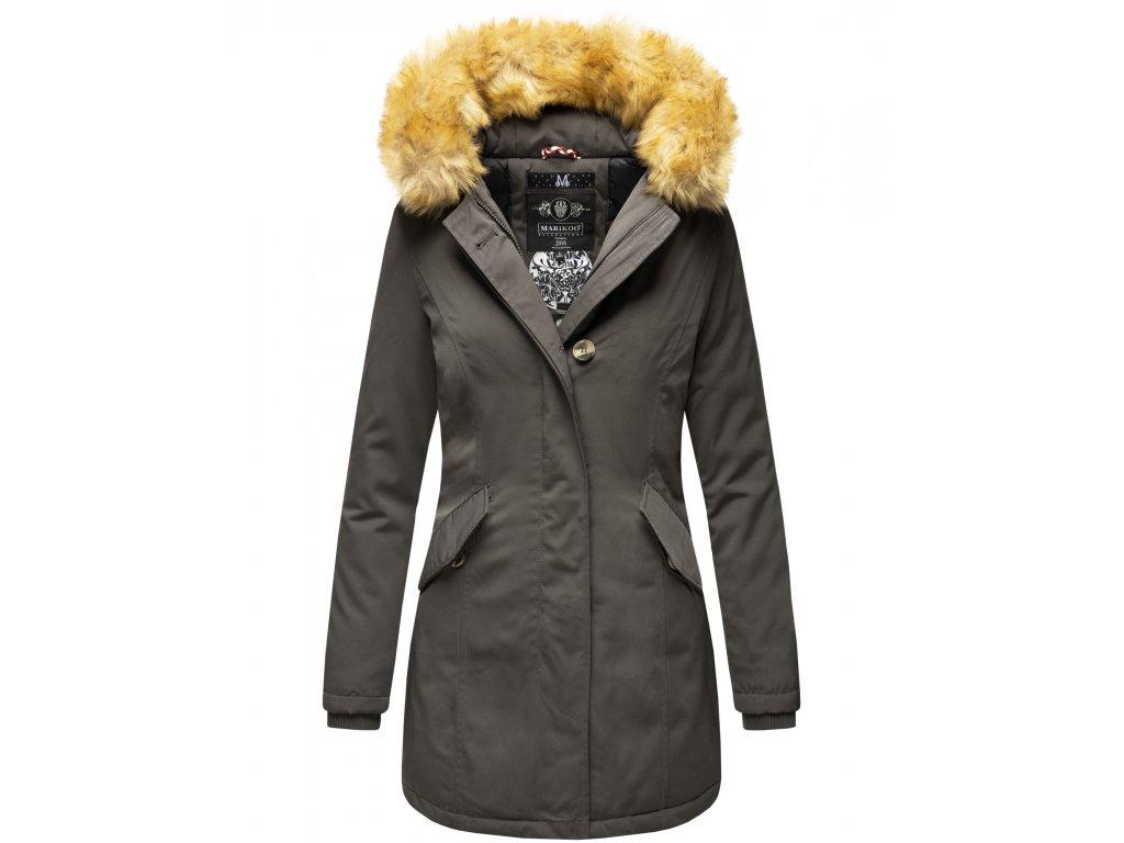 Dámska zimná bunda Karmaa Marikoo - ANTRACITE