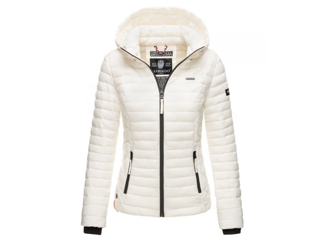 Dámska jarná-jesenná bunda s kapucňou Samtpfote Marikoo - OFF WHITE