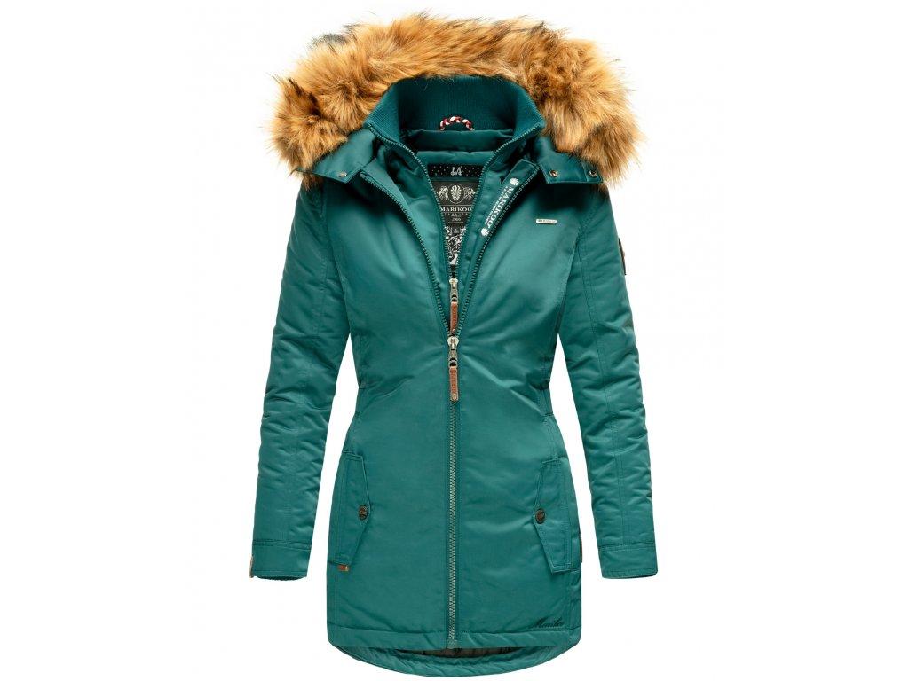 Dámska zimná bunda / kabát Sanakoo Marikoo - OCEAN GREEN