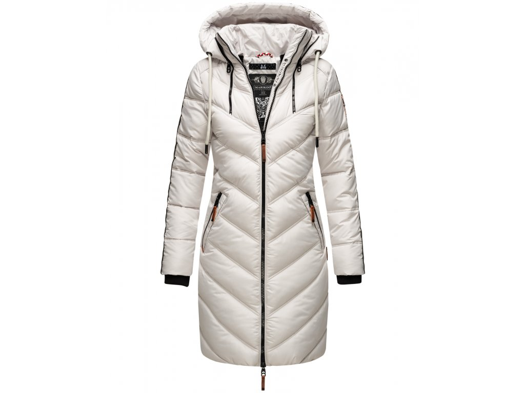 Dámska zimná dlhá bunda Armasa Marikoo - LIGHT GREY