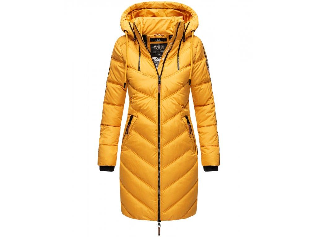 Dámska zimná dlhá bunda Armasa Marikoo - YELLOW