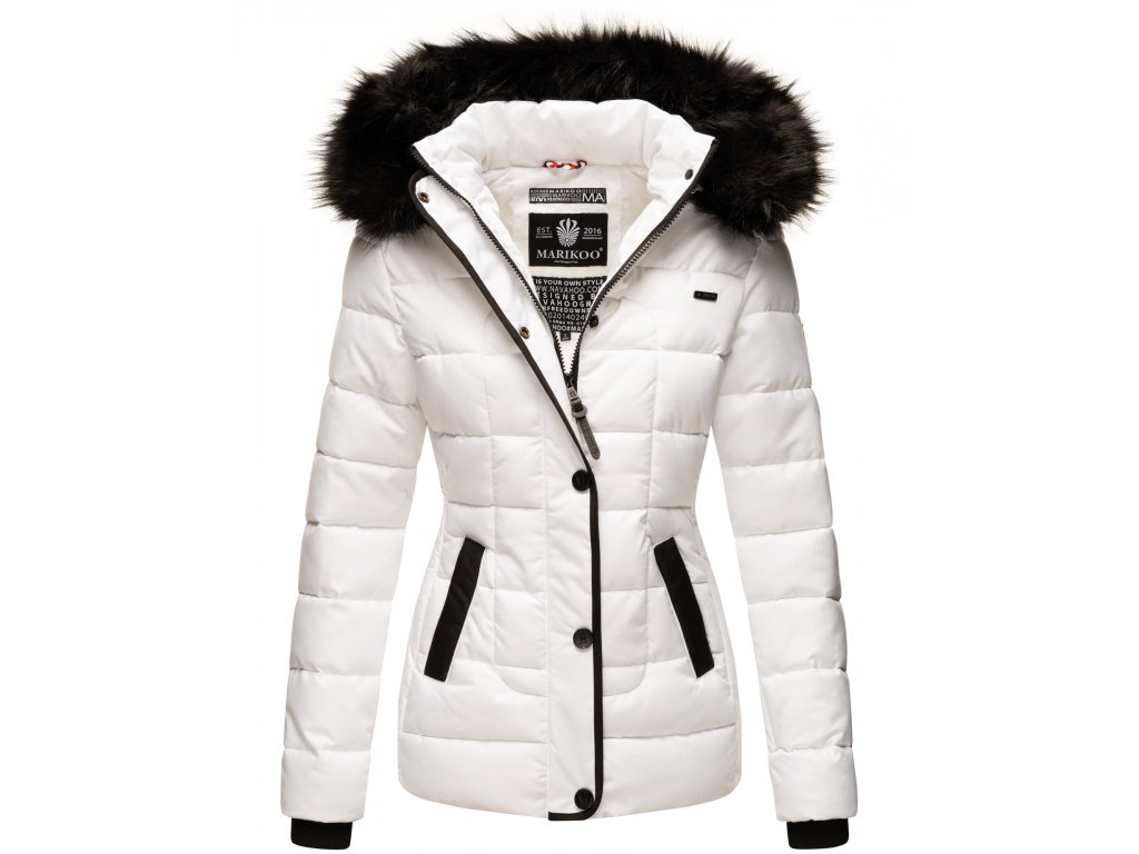Dámska zimná bunda s kapucňou Unique Marikoo - WHITE