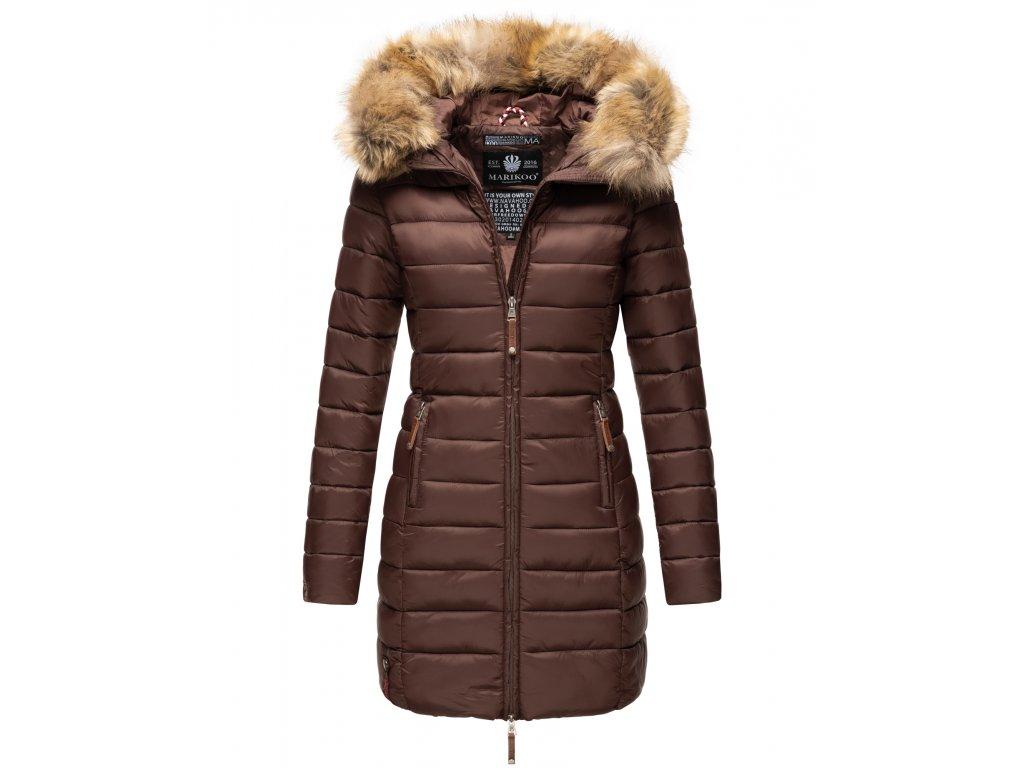 Dámska prechodová bunda s kapucňou ROSE 110 Marikoo - CHOCOLATE