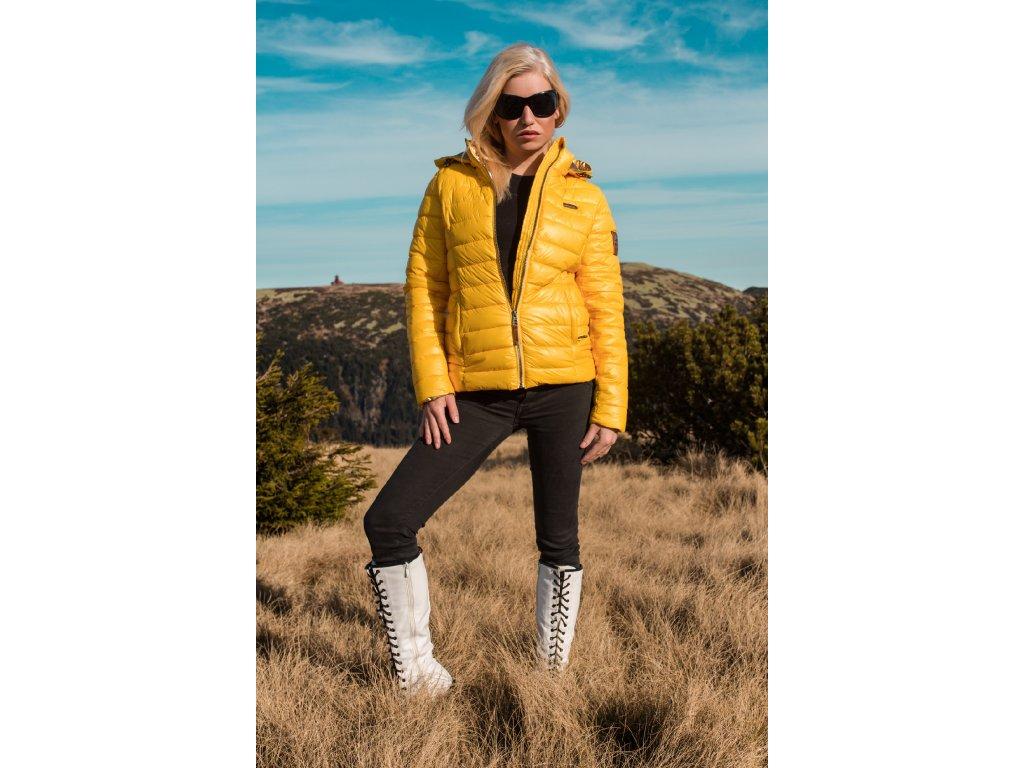 Dámska zimná bunda Aurelianaa Navahoo - YELLOW