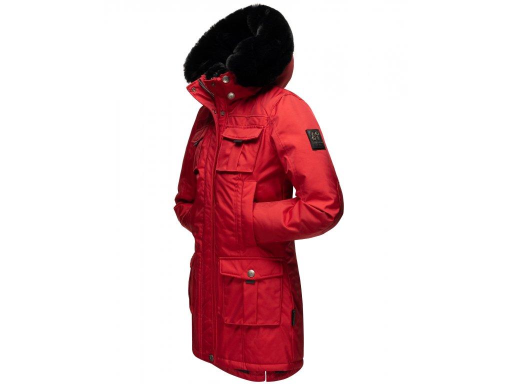 Dámska zimná bunda s kapucňou Tiniis Navahoo - RED