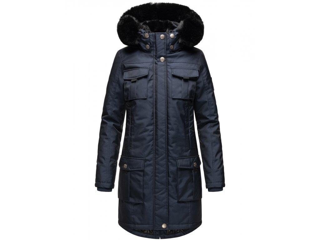 Dámska zimná bunda s kapucňou Tiniis Navahoo - NAVY
