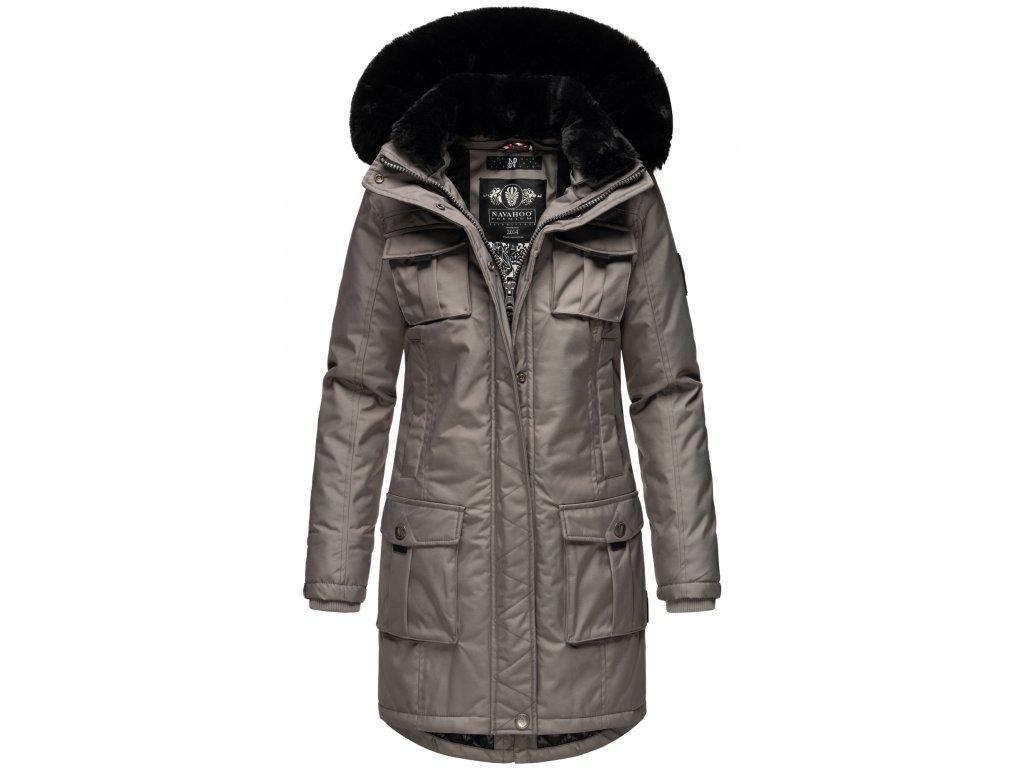 Dámska zimná bunda s kapucňou Tiniis Navahoo - GREY
