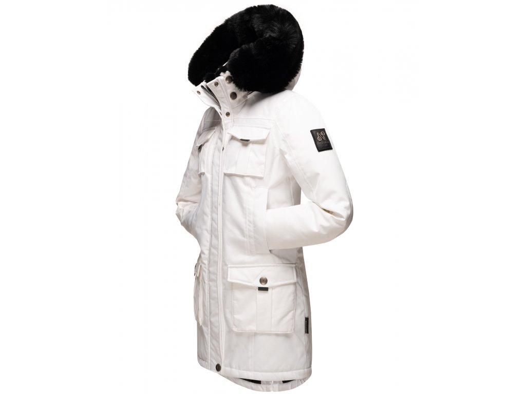 Dámska zimná bunda s kapucňou Tiniis Navahoo - WHITE