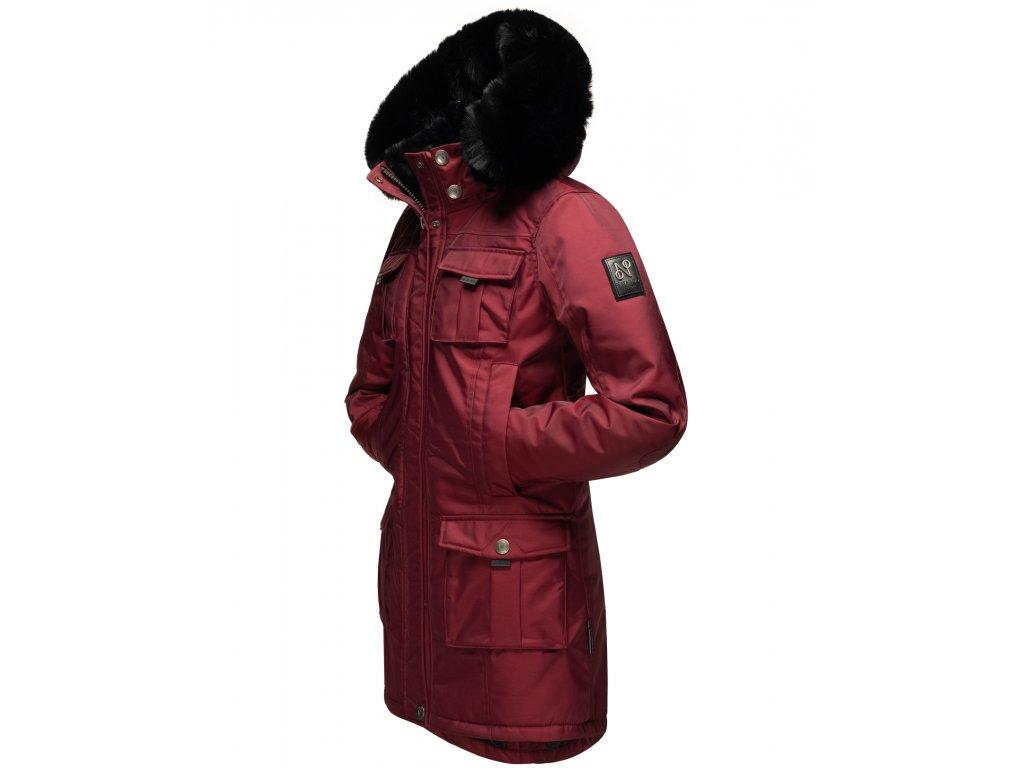 Dámska zimná bunda s kapucňou Tiniis Navahoo - BORDEAUX