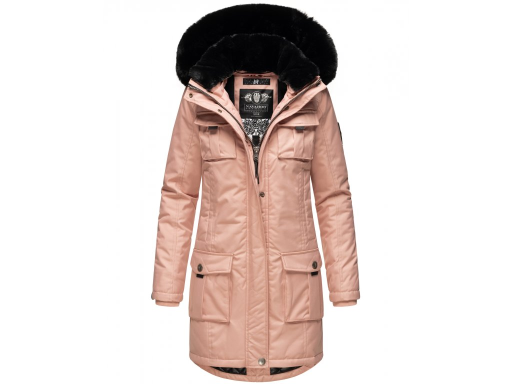 Dámska zimná bunda s kapucňou Tiniis Navahoo - ROSE