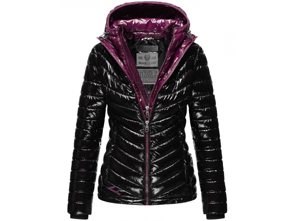 Dámska zimná bunda Lenjaa Marikoo - BLACK/AUBERGINE