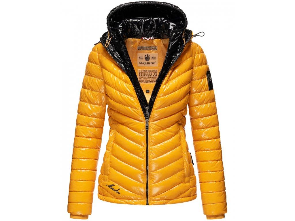 Dámska zimná bunda Lenjaa Marikoo - YELLOW/BLACK