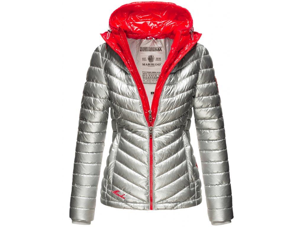 Dámska zimná bunda Lenjaa Marikoo - SILVER/RED