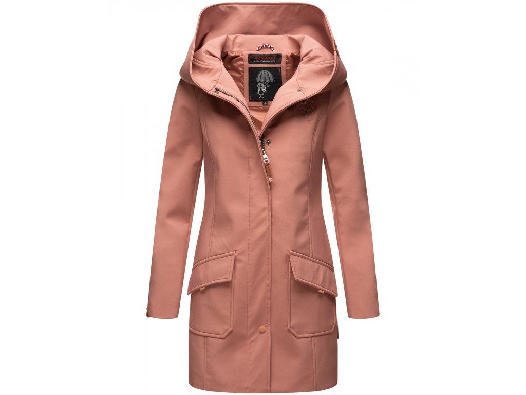 Dámsky zimný Softshell kabátik Mayleen Marikoo - TERRACOTA