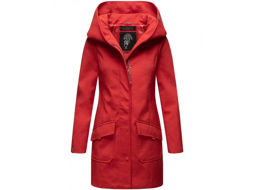 Dámsky zimný Softshell kabátik Mayleen Marikoo - RED
