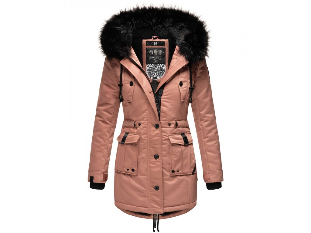 Dámska zimná dlhá bunda / kabát Luluna Princess Navahoo - TERRACOTA