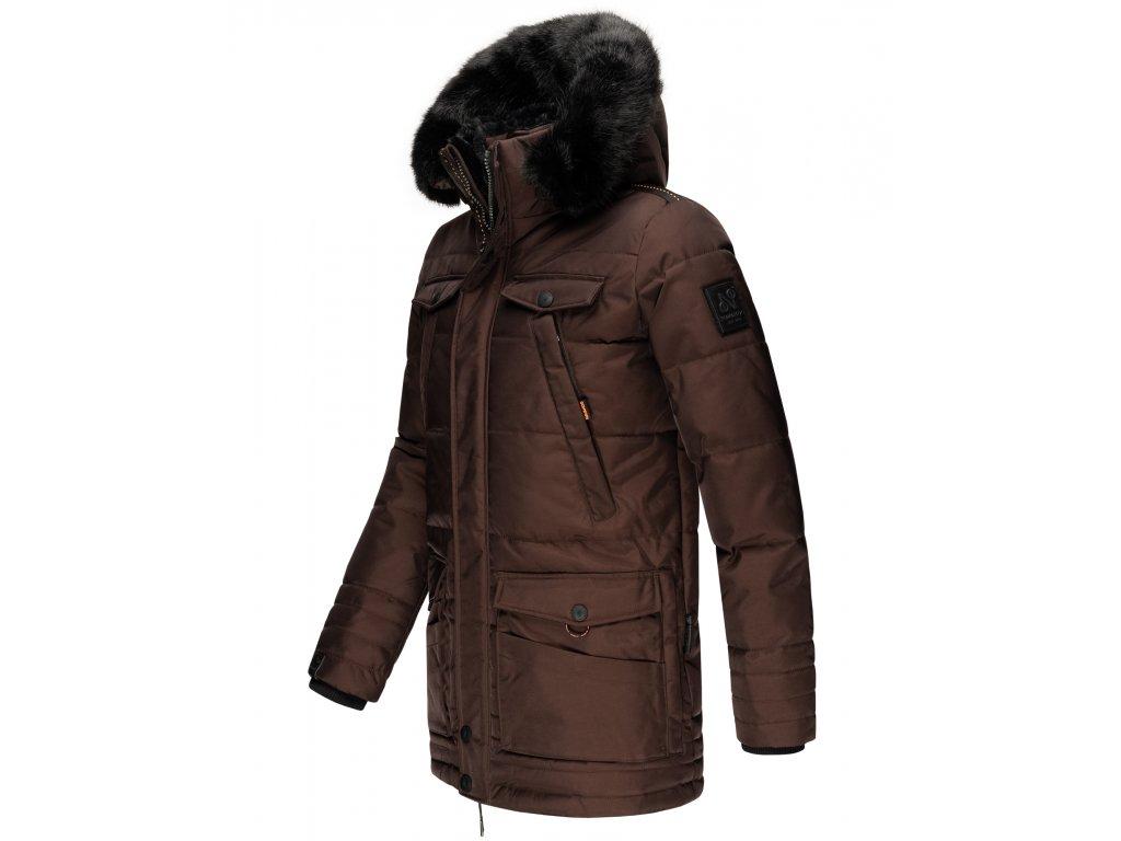 Pánska zimná bunda Luaan Navahoo - BROWN