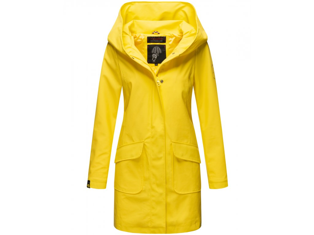 Dámsky nepremokavý kabát Delishiaa Navahoo - YELLOW