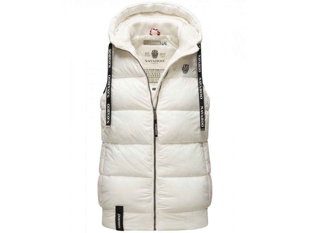 Dámska vesta s kapucňou Kassidy Navahoo - OFF WHITE