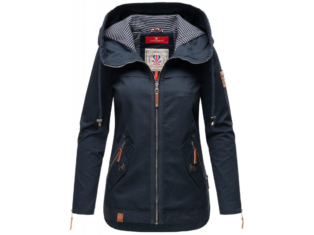 Dámska jarná-jesenná bunda s kapucňou Wekoo Marikoo - NAVY