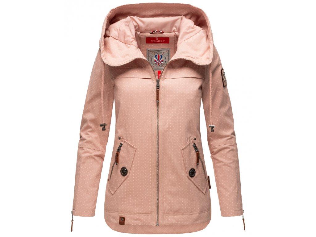 Jarná-jesenná bunda s kapucňou s potlačou Wekoo Marikoo - LIGHT ROSE MP