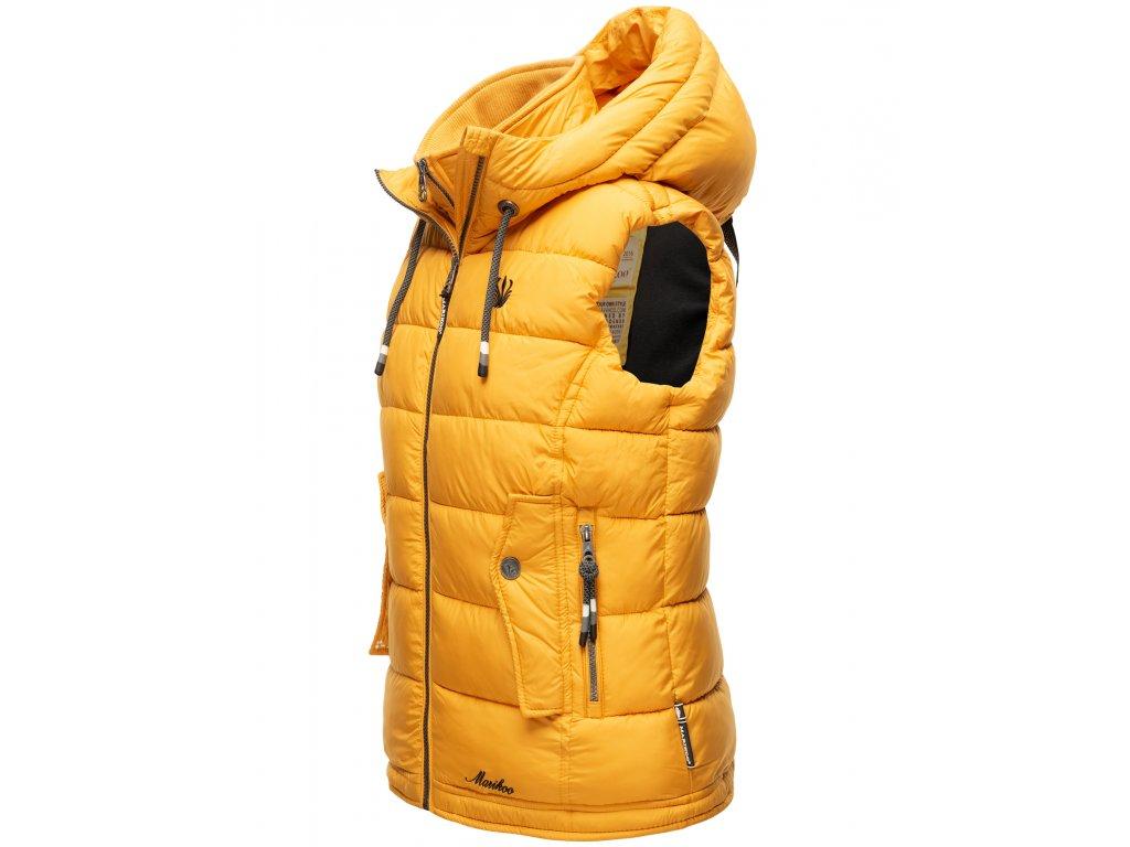 Dámska vesta s kapucňou Taisaa Navahoo - YELLOW