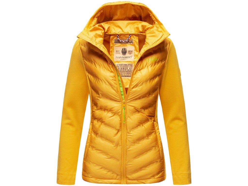 Dámska prechodová bunda s kapucňou Nimm mich mit Navahoo - YELLOW