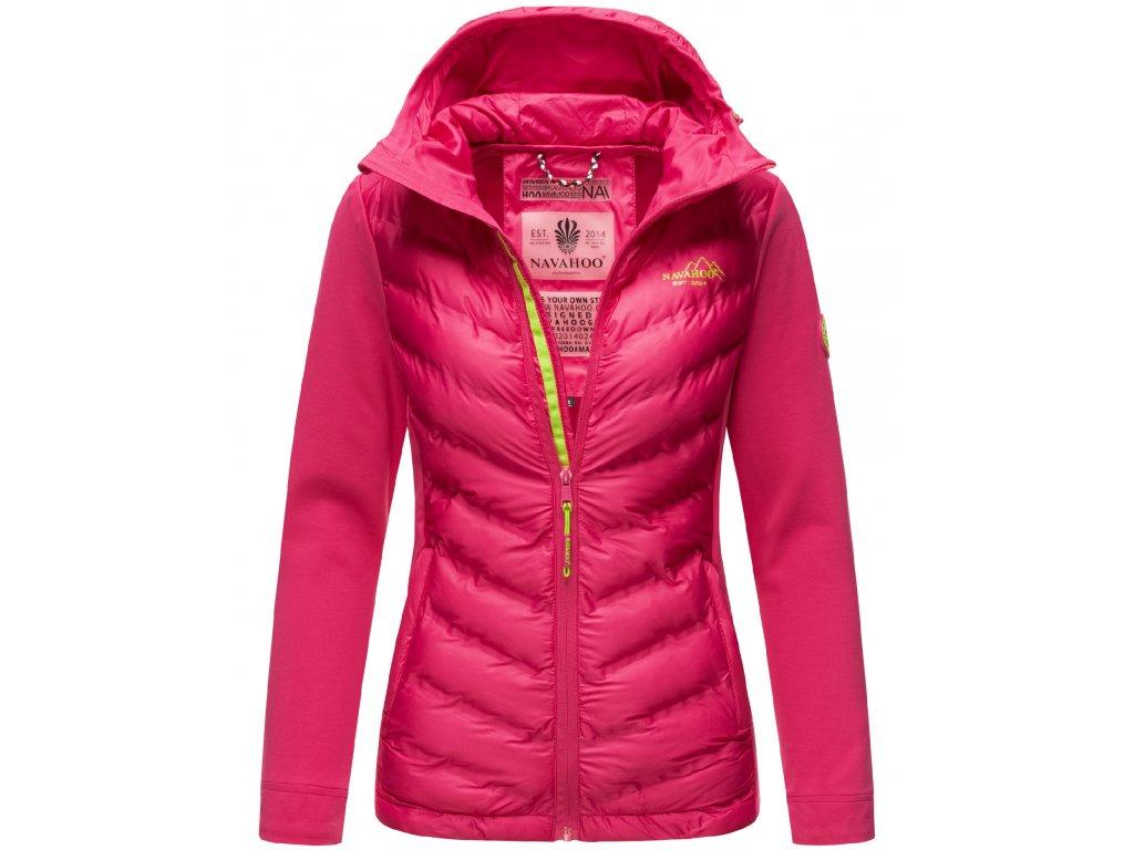 Dámska prechodová bunda s kapucňou Nimm mich mit Navahoo - PINK