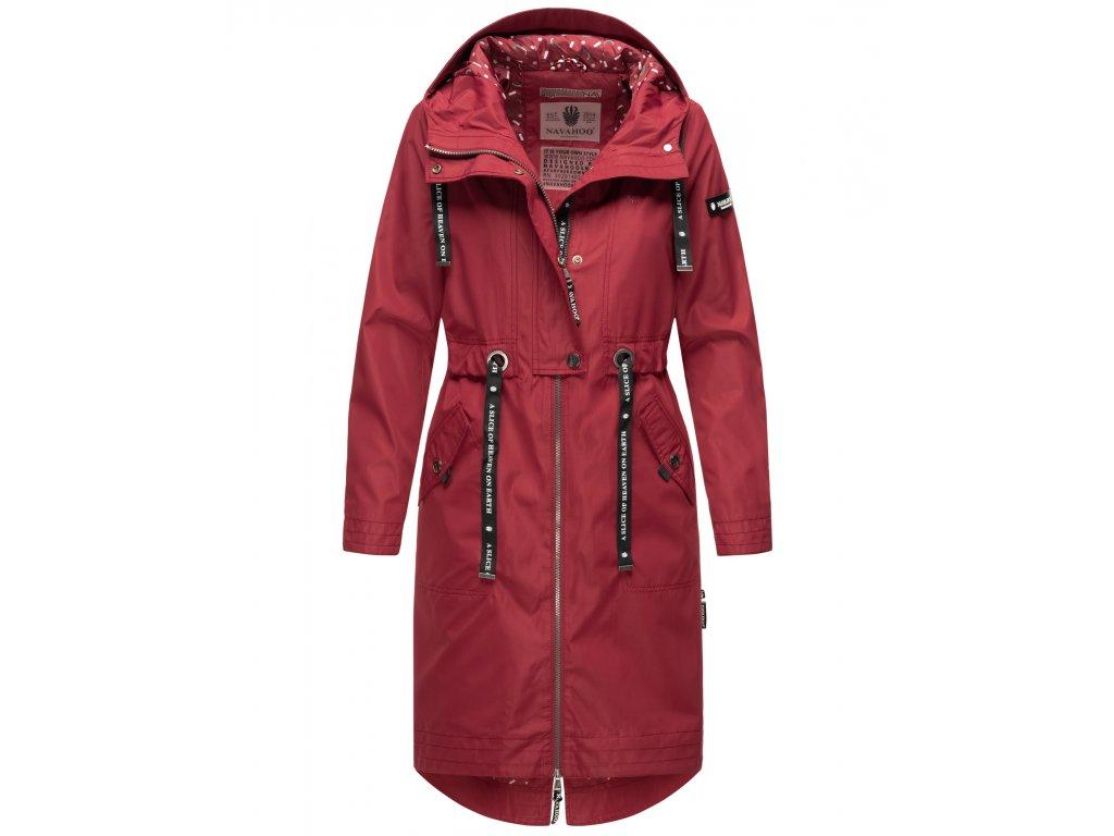 Dámsky kabát s kapucňou Josinaa Navahoo - BORDEAUX