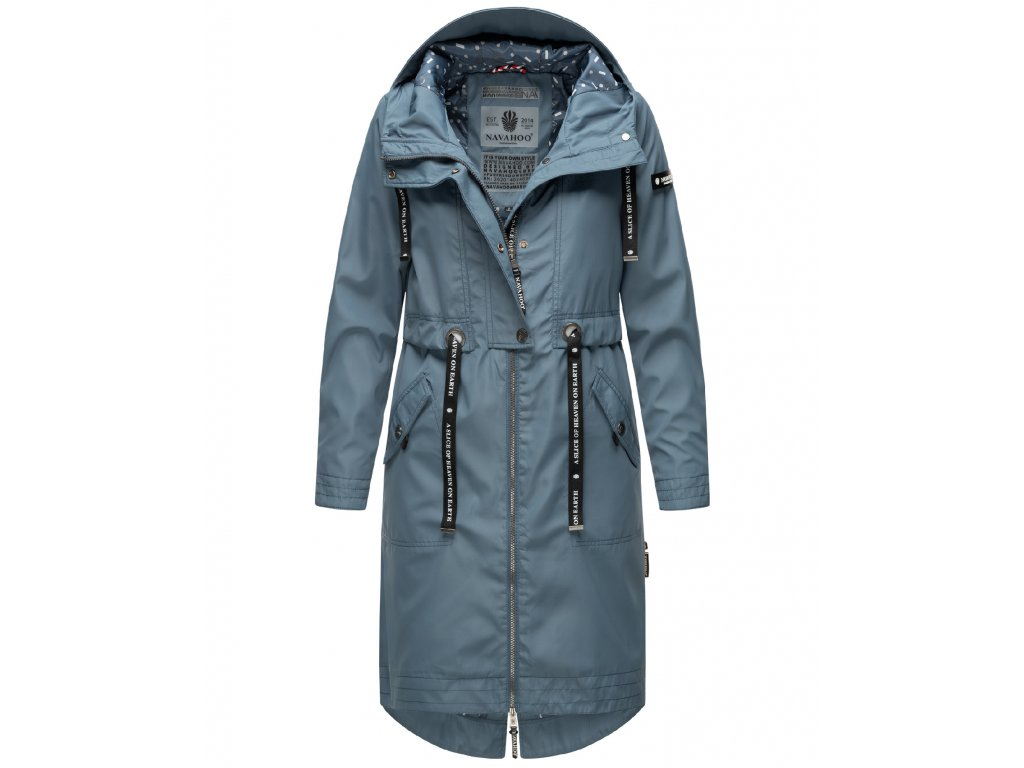 Dámsky kabát s kapucňou Josinaa Navahoo - BLUE