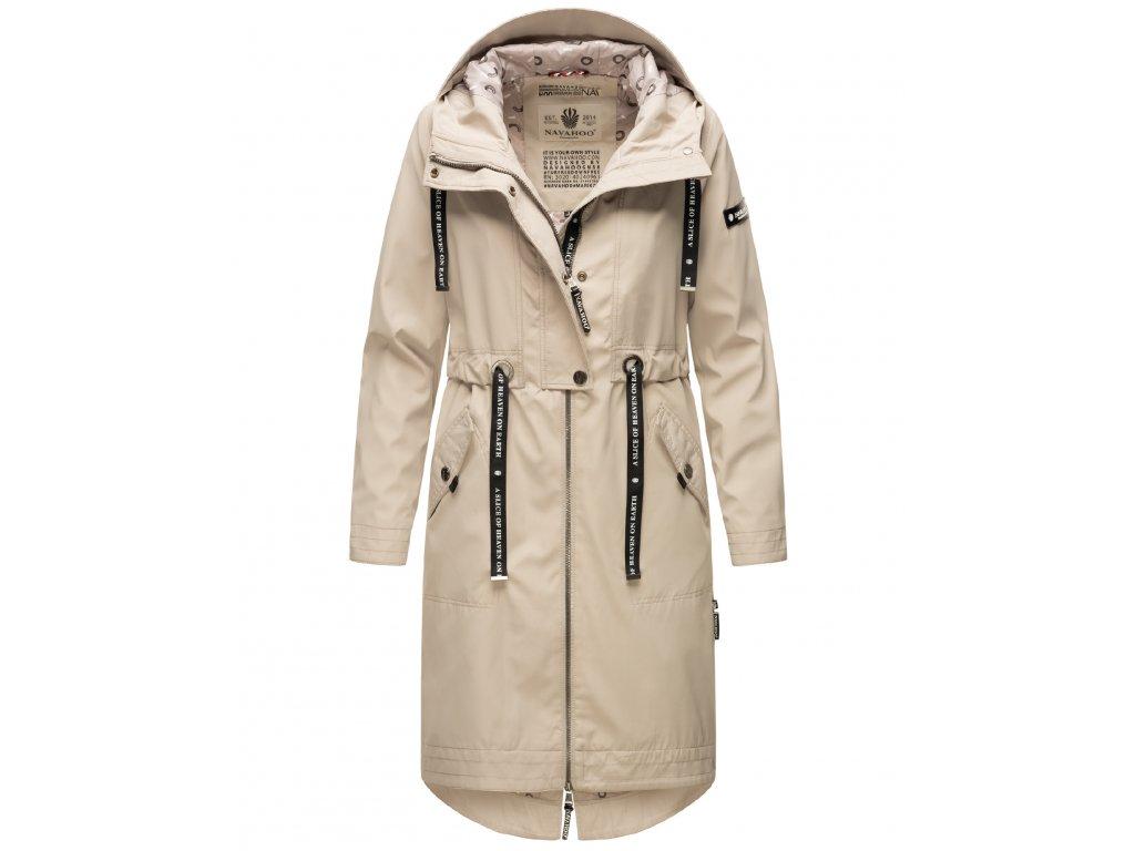 Dámsky kabát s kapucňou Josinaa Navahoo - LIGHT GREY