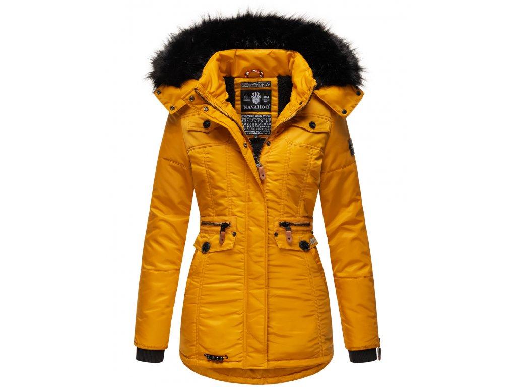 Dámska zimná bunda s kapucňou Schatzchen Navahoo - YELLOW