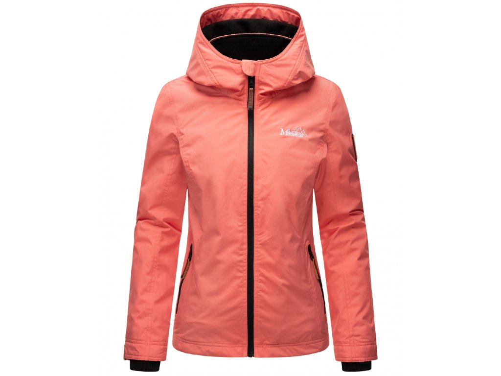 Dámska outdoorová bunda s kapucňou Eerdbeere Marikoo - ROSE CORAL