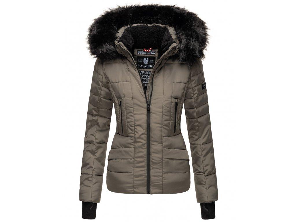 Dámska zimná bunda s kapucňou Adele Navahoo - GREY OLIVE