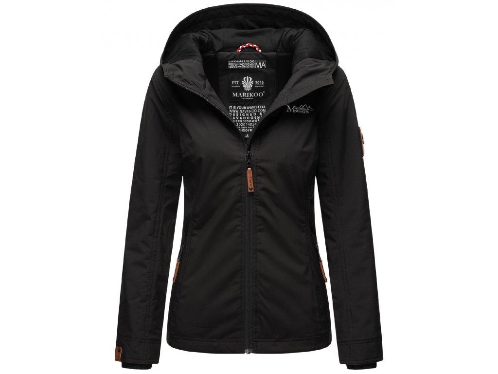 Dámska outdoorová bunda s kapucňou Brombeere Marikoo - BLACK