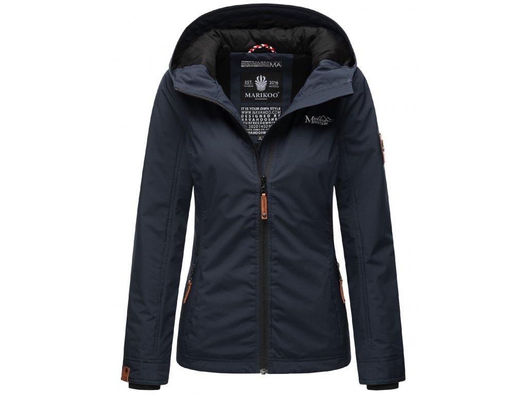 Dámska outdoorová bunda s kapucňou Brombeere Marikoo - NAVY