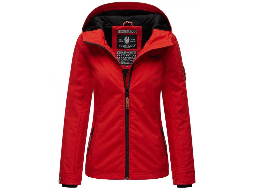Dámska outdoorová bunda s kapucňou Brombeere Marikoo - RED