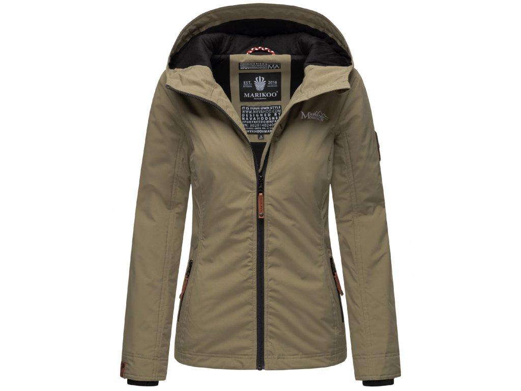 Dámska outdoorová bunda s kapucňou Brombeere Marikoo - STONE GREY