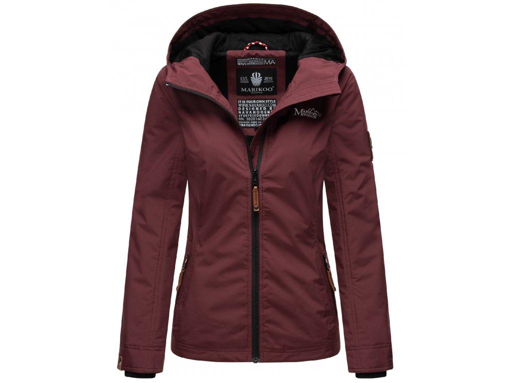 Dámska outdoorová bunda s kapucňou Brombeere Marikoo - WINE
