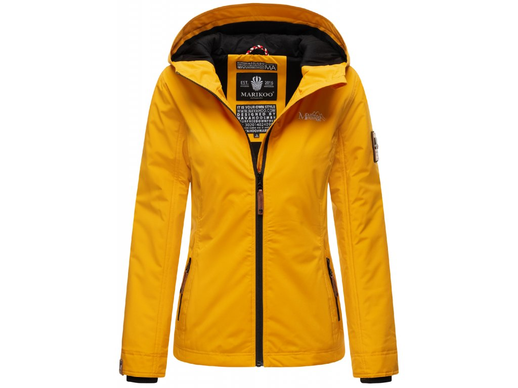 Dámska outdoorová bunda s kapucňou Brombeere Marikoo - YELLOW
