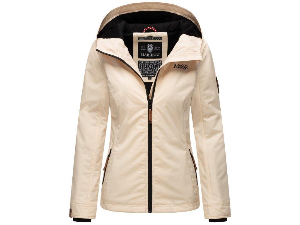 Dámska outdoorová bunda s kapucňou Brombeere Marikoo - BEIGE