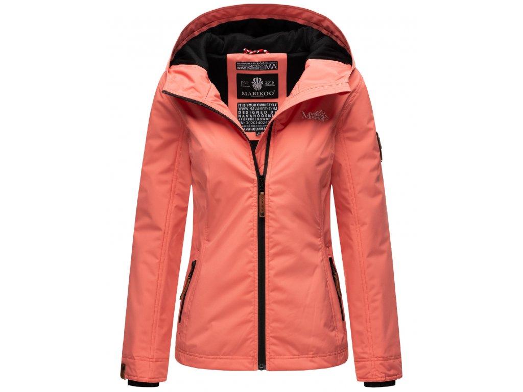 Dámska outdoorová bunda s kapucňou Brombeere Marikoo - CORAL ROSE