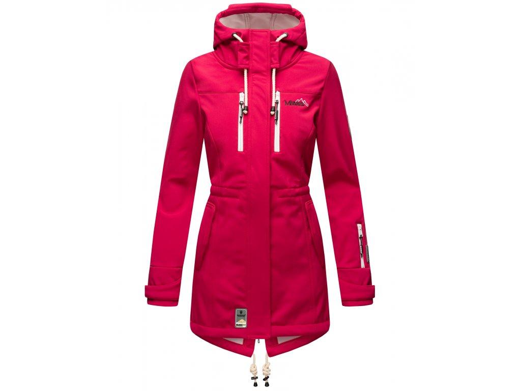 Dámska zimná bunda s kapucňou Zimtzicke softshell 7000 dry-tech Marikoo - FUCHSIA