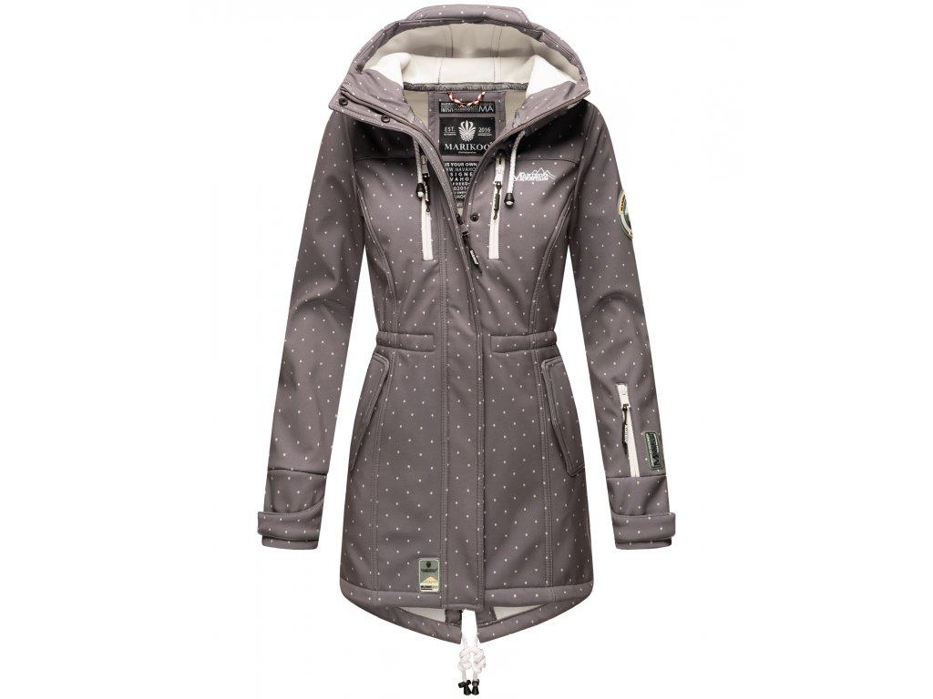 Dámska zimná bunda s kapucňou Softshell Drytech 7000 Zimtzicke P Marikoo - GREY w. D