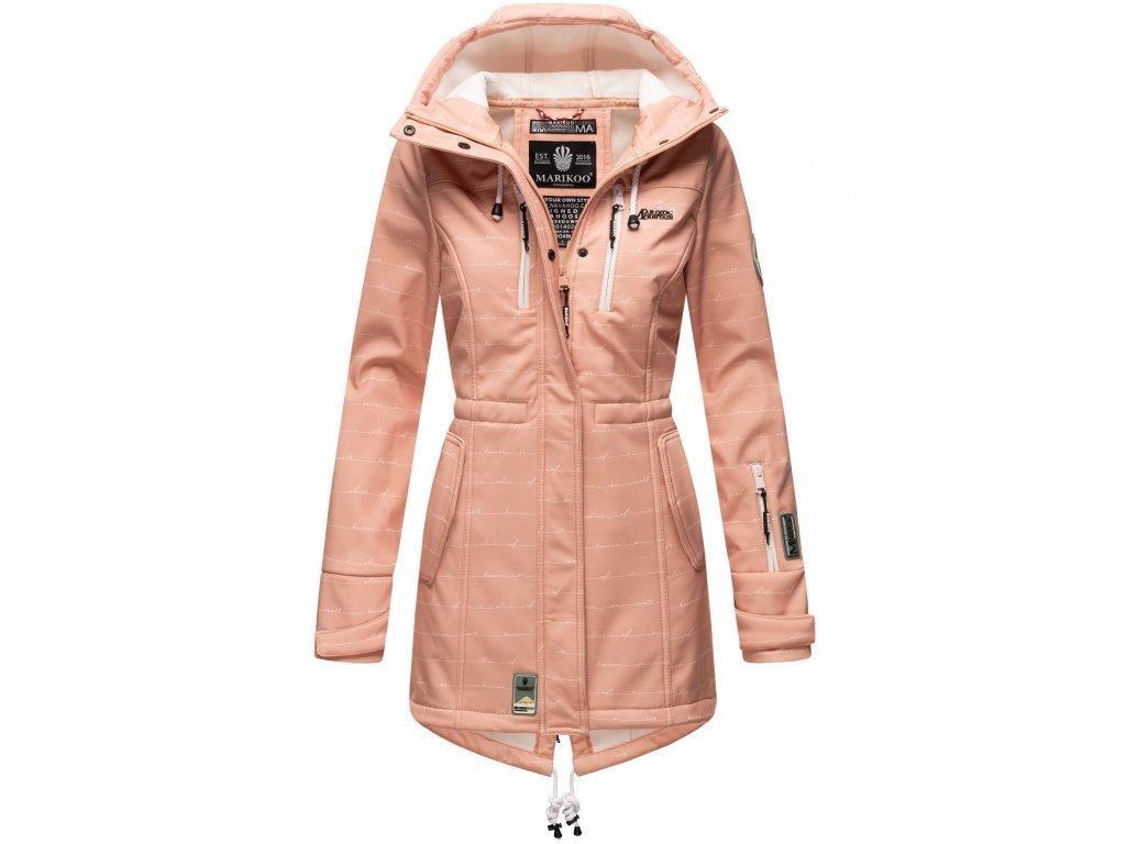 Dámska zimná bunda s kapucňou Softshell Drytech 7000 Zimtzicke P Marikoo - ROSE w. L