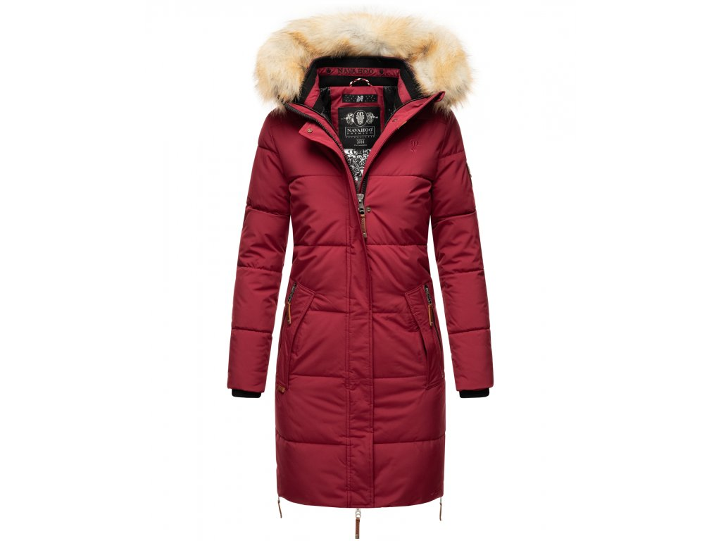 Dámska zimná bunda Halina Navahoo - BORDEAUX