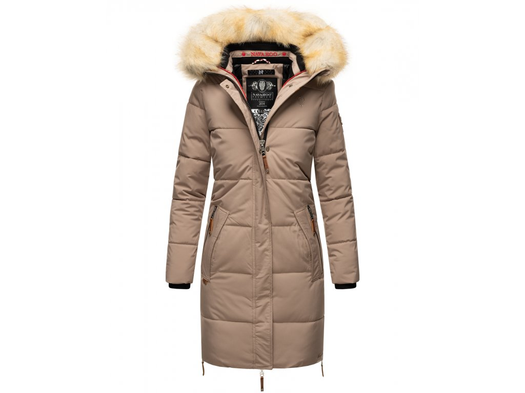 Dámska zimná bunda Halina Navahoo - TAUPE