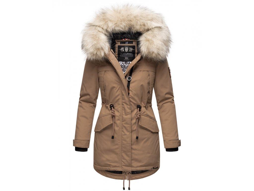 Dámska zimná dlhá bunda LadyLike Navahoo - TAUPE