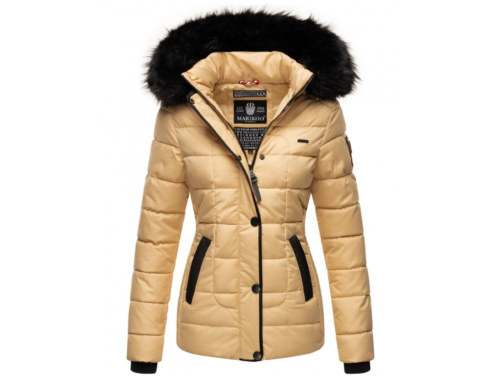 Dámska zimná bunda s kapucňou Unique Marikoo - BEIGE